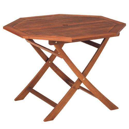 アカシア材 ガーデンテーブル&チェア 八角型 直径110cm 【メーカー直送/代金引換決済不可】