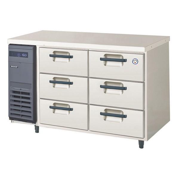 福島工業 フクシマ 3段ドロワーテーブル冷蔵庫 幅1200mm 奥行600mmタイプ YDC-120RM2