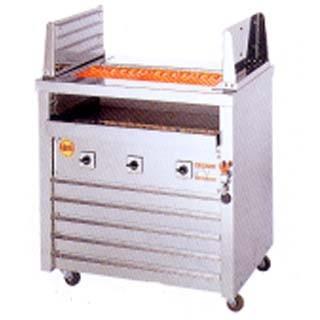焼き台 業務用 ヒゴグリラー 電気グリラー 二刀流タイプ床置型 3H-212Y メーカー直送/代引不可【】