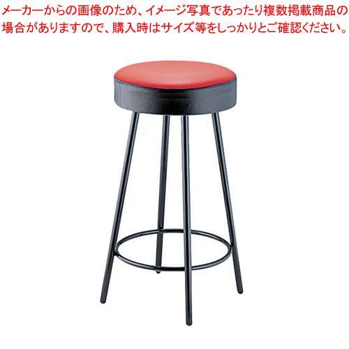 【まとめ買い10個セット品】丸イス K-350(赤/黒) 座高620mm