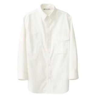 【まとめ買い10個セット品】 男女兼用七分袖シャツ CH4434-0 ホワイト LL