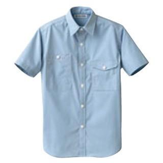 【まとめ買い10個セット品】 男女兼用半袖シャツ CH4437-1 サックス L