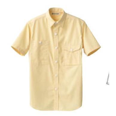 【まとめ買い10個セット品】 男女兼用半袖シャツ CH4437-5 イエロー LL