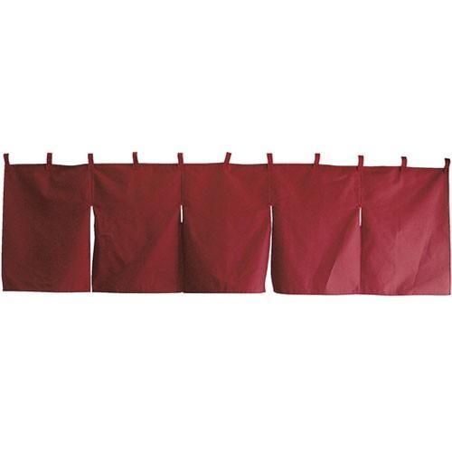 【まとめ買い10個セット品】無地のれん(5巾) 防炎 ボルドー