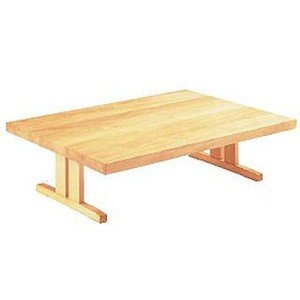 座卓 無垢板寄せ木 白 板型 9−80−18 メーカー直送/代引不可