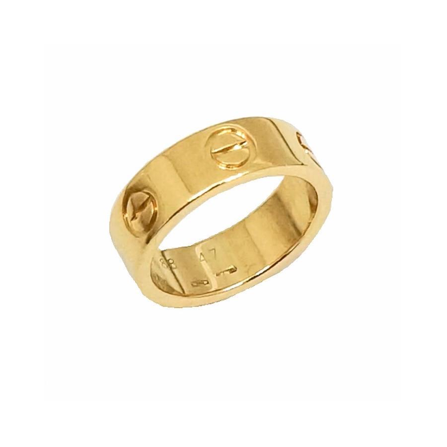 【数量限定】 カルティエ ラブリング K18YG #47 7号 6.1g Cartier, ブレスレットのマリリン 841d0835