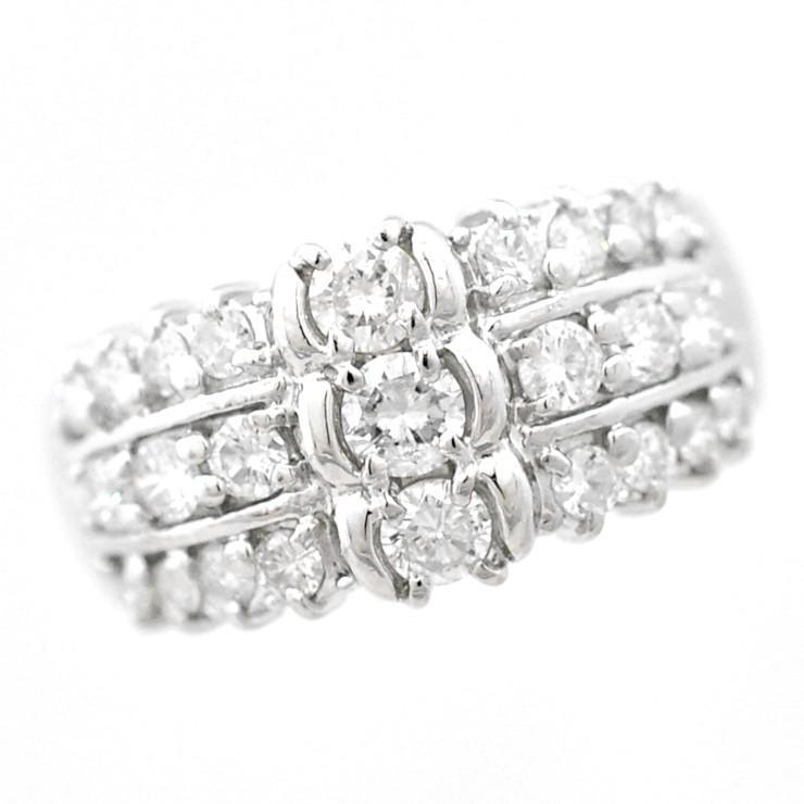 ラウンド  リング プラチナ900 ダイヤモンド サイズ12号 レディース ジュエリー, トネムラ 52955afe