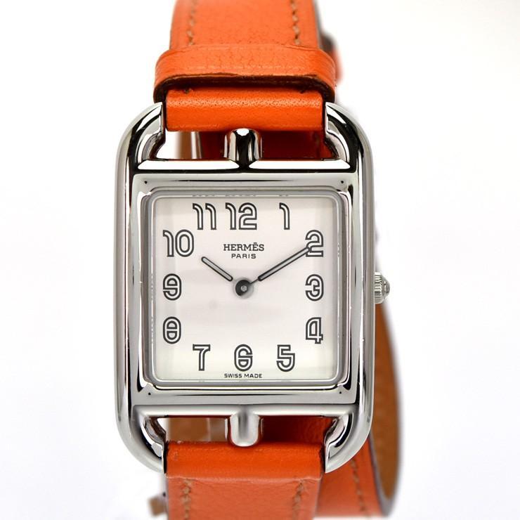 楽天 エルメス ケープコッド ドゥブルトゥール レディース 腕時計 クオーツ ステンレススチール シルバー文字盤 CC1.210 HERMES, のぼりキング 67046259