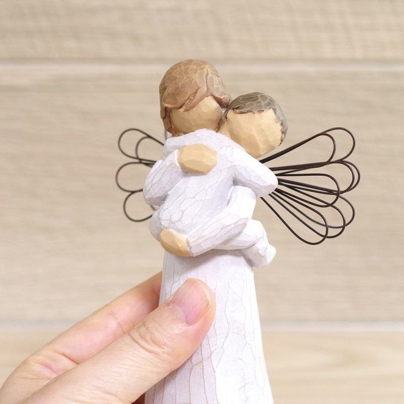 メモリアルオブジェ Angel's Embrace 〜大切にぎゅっと抱きしめて〜 WillowTree|memoriaareca|07