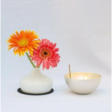 灯立て、花器、香立てがひとつになったグッドデザイン賞受賞仏具 チェリング[シルバー]|memoriaareca|05