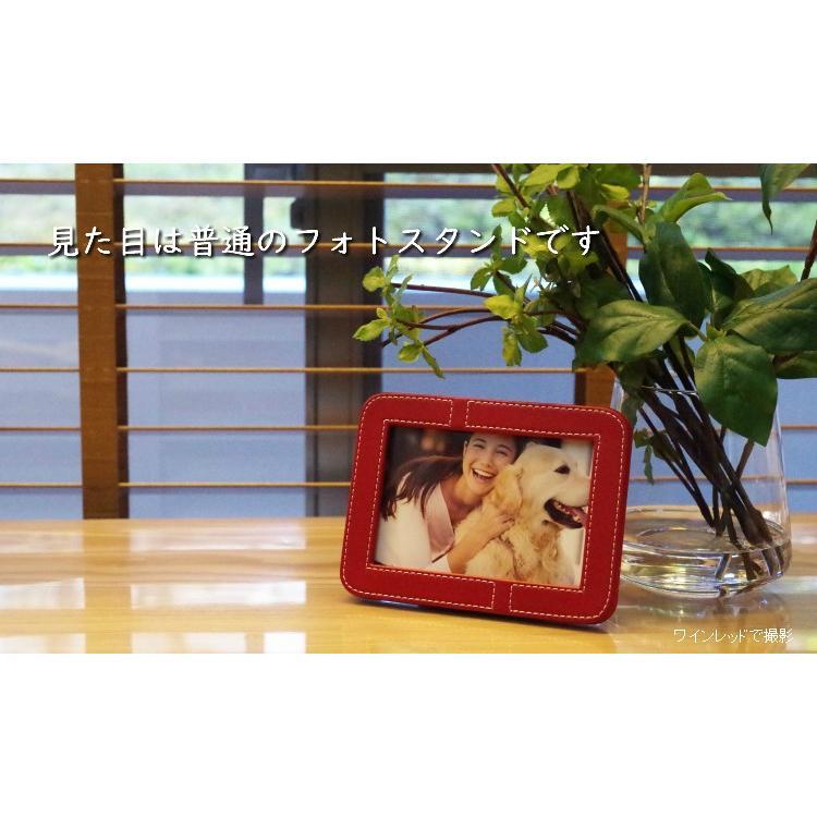 写真立タイプの手元供養骨壷 メモリアルフォトスタンド ワインレッド memoriaareca 05