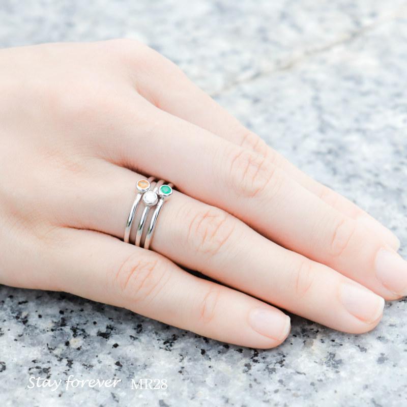 メモリアルリングMR28 地金:K18WG (18Kホワイトゴールド×3mmのダイヤモンドまたは誕生石) 〜遺骨を内側にジェル封入する完全防水の指輪〜|memoriaareca|05