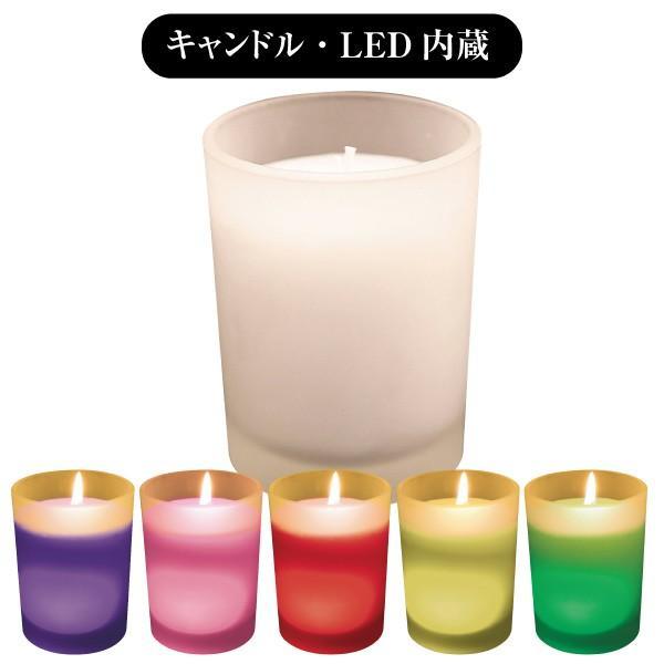 ペット仏具 ろうそく ローソク キャンドル キャンドルホルダー LED ペット仏壇用 シトラスの香り アロマキャンドル|memorialbasket