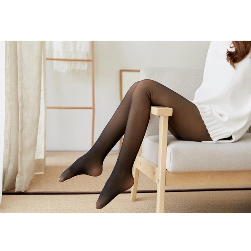 タイツ 裏起毛 ストッキング 1200デニール 着圧 透け感 レディース 黒 暖かい 肌色 パンスト 裏起毛なので暖かく透け感のあるタイツ 防寒 靴下|menstrend|08