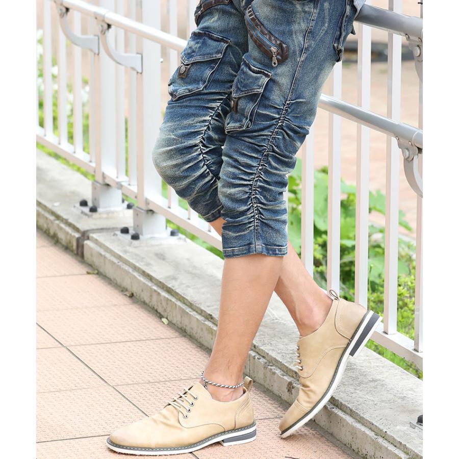 ブーツ メンズ 夏 スエード 靴 ローカット レースアップシューズ プレーントゥ キレイめ おしゃれ 20代 30代 40代 menz-style 14