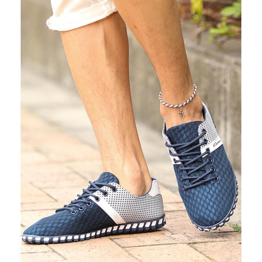スニーカー メンズ メッシュ カジュアル 靴 おしゃれ 夏 20代 30代 40代 50代|menz-style|07