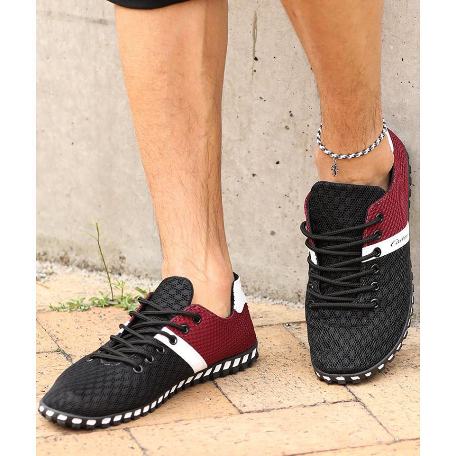 スニーカー メンズ メッシュ カジュアル 靴 おしゃれ 夏 20代 30代 40代 50代|menz-style|10