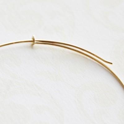 K18 ワイヤー フープ ピアス 50mm 18K 18金 華奢 5cm ゴールド ピンクゴールド ホワイトゴールド PG WG 大きめ 大きい 輪っか シンプル レディース おしゃれ merci-j 04
