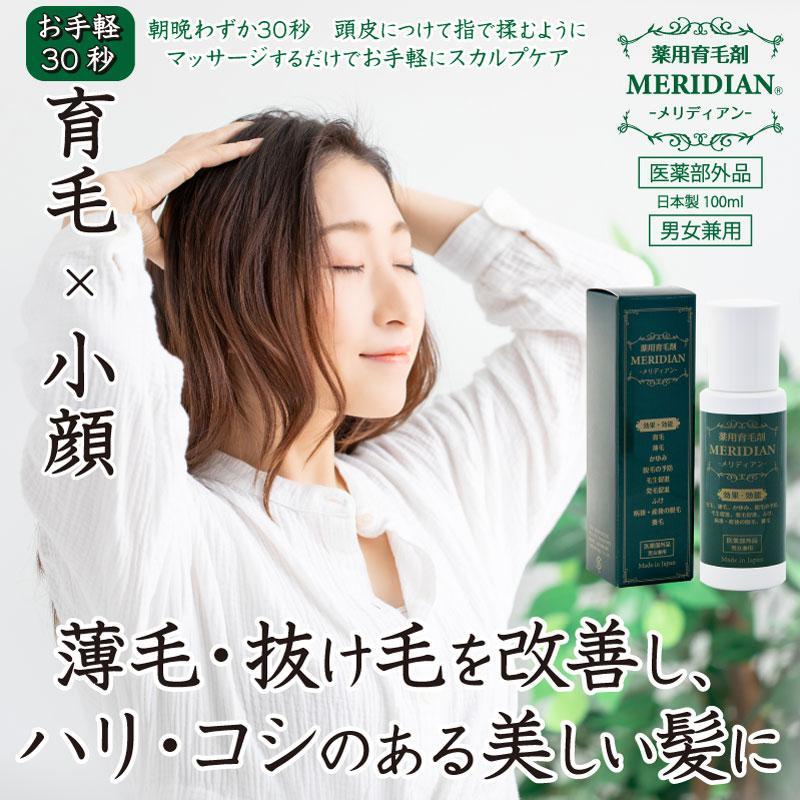 薬用育毛剤 MERIDIAN-メリディアン-(医薬部外品)3本セットで25%off・送料無料 男性用 女性用 meridian 02