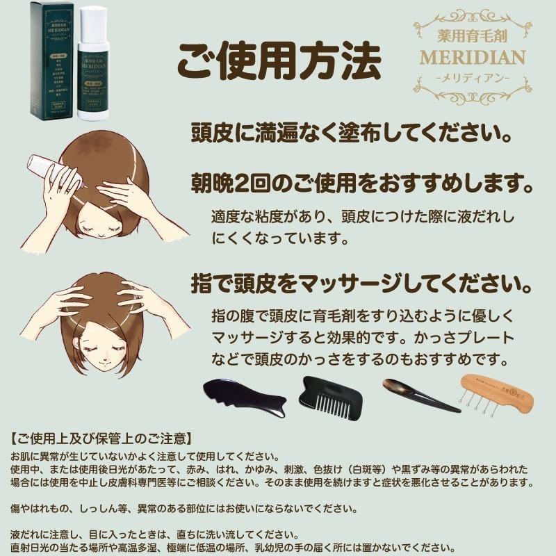 薬用育毛剤 MERIDIAN-メリディアン-(医薬部外品)3本セットで25%off・送料無料 男性用 女性用 meridian 17