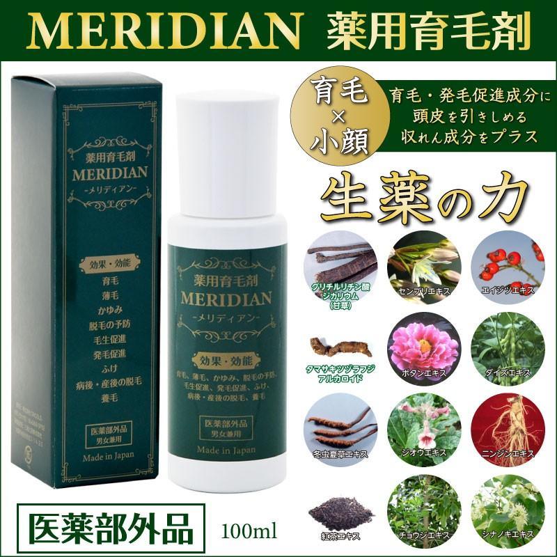 薬用育毛剤 MERIDIAN-メリディアン-(医薬部外品)3本セットで25%off・送料無料 男性用 女性用 meridian 20