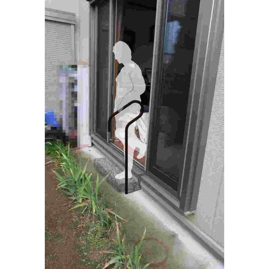 アイレ ミライズ 1本脚手すり 屋外の小段差手すり 玄関ポーチや勝手口に 日本製 介護保険 住宅改修|merise|04