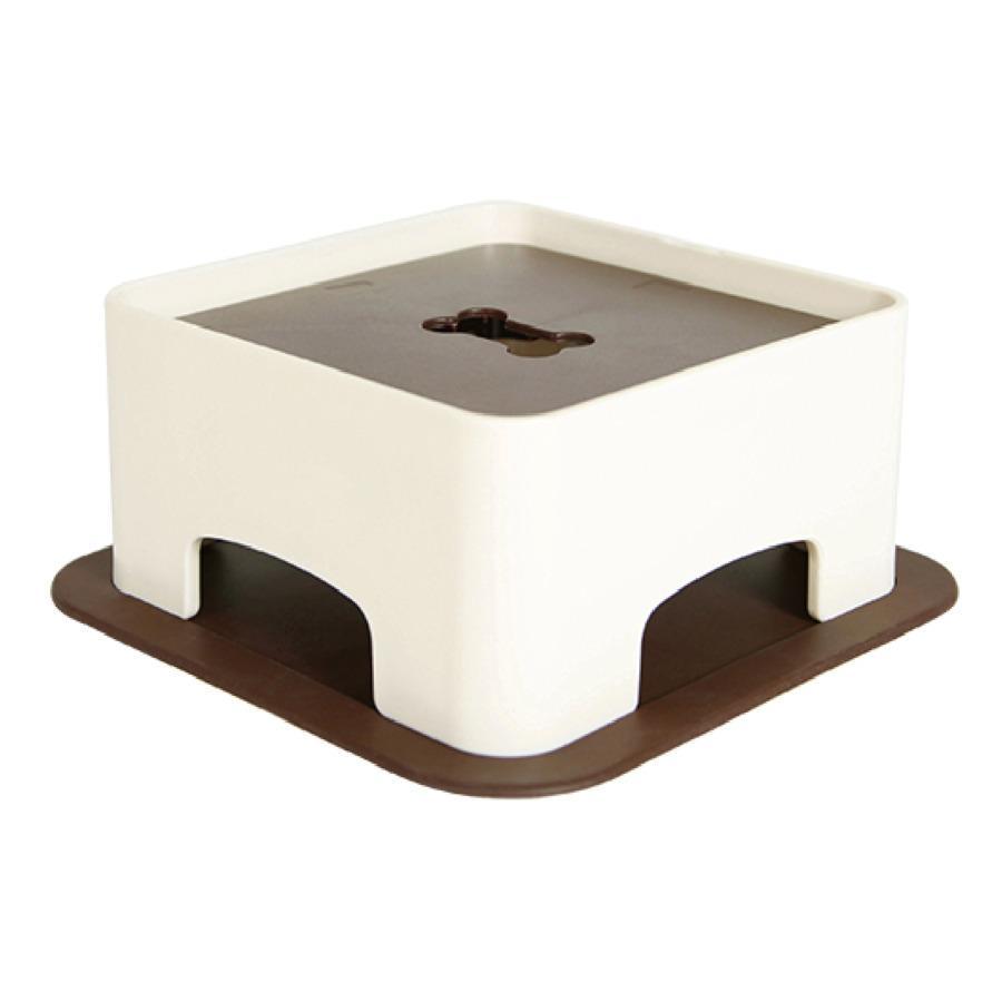 ハリオ ワンプレ わんテーブル ショコラブラウン HARIO 犬 テーブル 食器台 犬用 テーブル 傾斜のある ご飯台 小型犬 中型犬  介護 ペット|merland