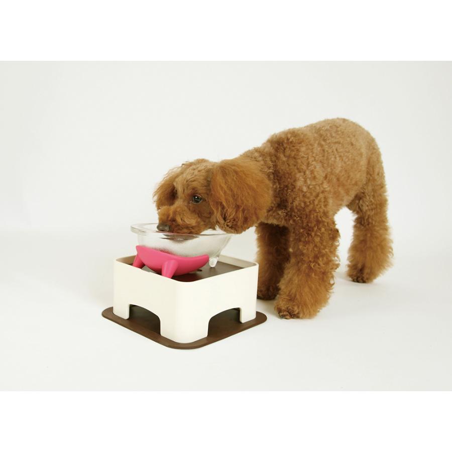ハリオ ワンプレ わんテーブル ショコラブラウン HARIO 犬 テーブル 食器台 犬用 テーブル 傾斜のある ご飯台 小型犬 中型犬  介護 ペット|merland|03
