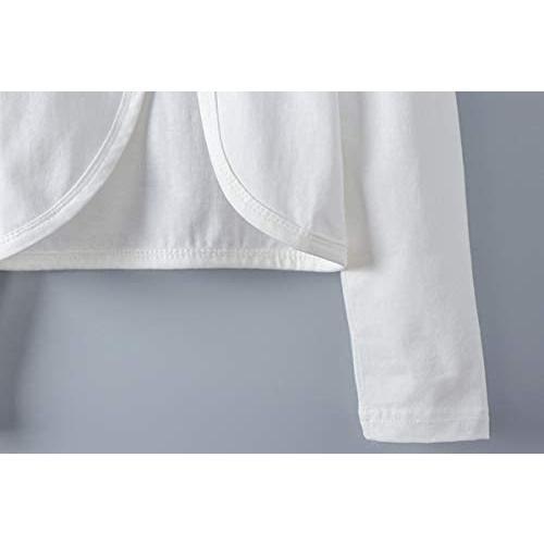 キッズ ボレロ 長袖 フォーマル 女の子ポンチョ 薄手 発表会 入園式 結婚式 (ホワイト 160) merock 05