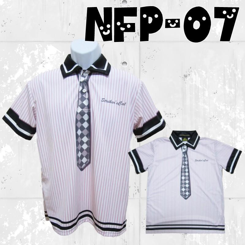 ボウリングウエア ポロシャツ 名入れ ネクタイ 制服 NFP-07 ストネコ