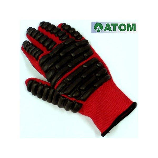 手袋 保護手袋 送料無料 アトム 拳護 #1138 緩衝材 滑り止め 日本製 S M L レッド ブラック 10双セット