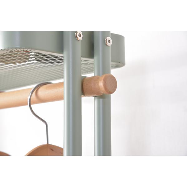 Sylph Hanger rack ハンガーワゴン 収納カゴ付き 2color ハンガーラック|mertico|07