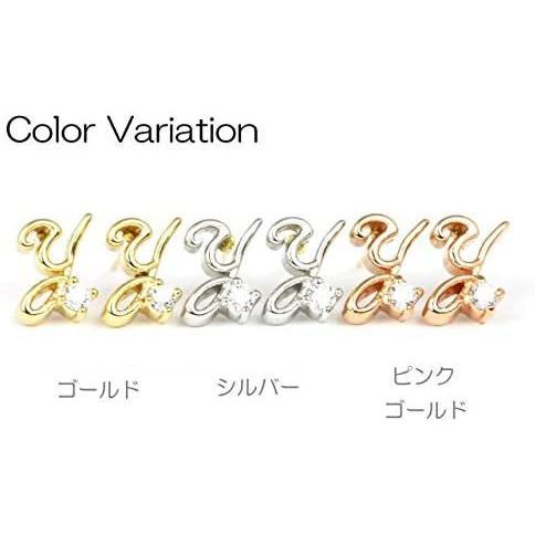 ヒリーズHRYS 日本製 18金 ポストCZ イニシャル  Y ピアス 3483 (ピンクゴールド) (ピンクゴールド) mesotes 04