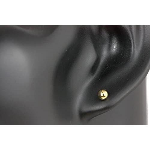 ヒリーズHRYS  18金 ポスト ピアス 4mm 丸玉 日本製 3021 (ゴールド) (ゴールド)|mesotes|02