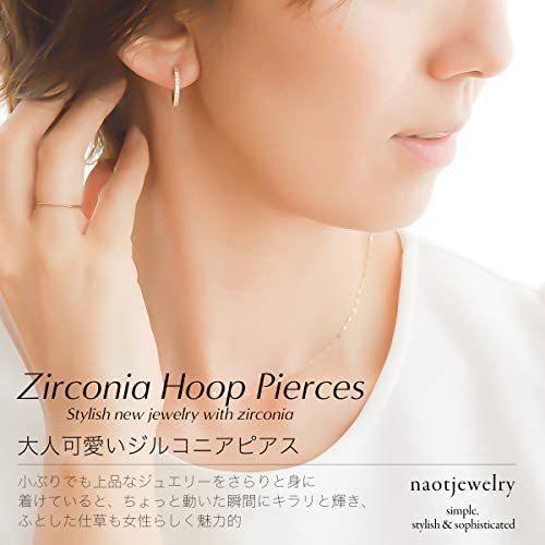 [ナオットジュエリー] 18K ジルコニア ピアス ゴールド Zirconia Hoop Pierce [ギフトBOX付き ] (ゴールド) mesotes 03