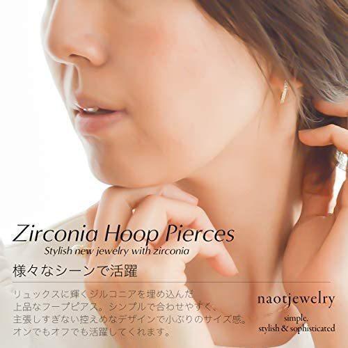 [ナオットジュエリー] 18K ジルコニア ピアス ゴールド Zirconia Hoop Pierce [ギフトBOX付き ] (ゴールド) mesotes 04