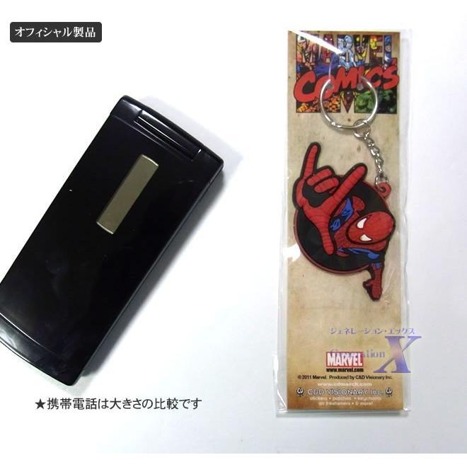 マーベルコミック公式製品 スパイダーマン ラバー キーホルダー