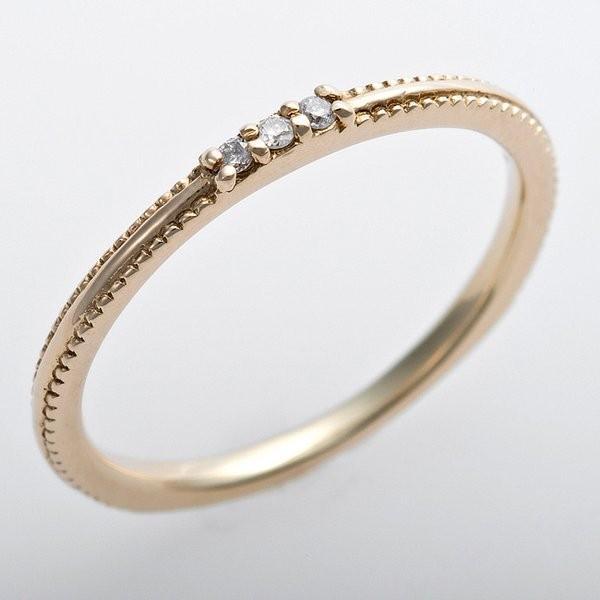 【現品限り一斉値下げ!】 K10イエローゴールド 天然ダイヤリング 指輪 ピンキーリング ダイヤモンドリング 0.02ct 4号 アンティーク調 プリンセス, 東海トリカエ隊 b69c88c7