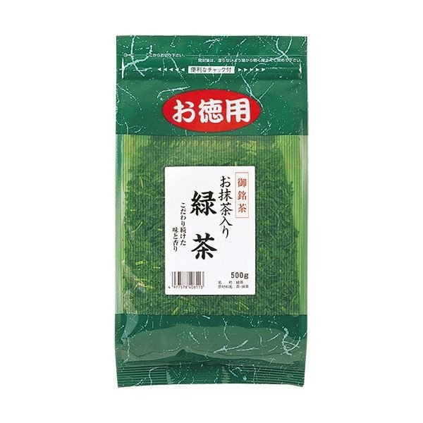 (まとめ)菱和園 抹茶入緑茶 500g 1セット(3袋)〔×2セット〕
