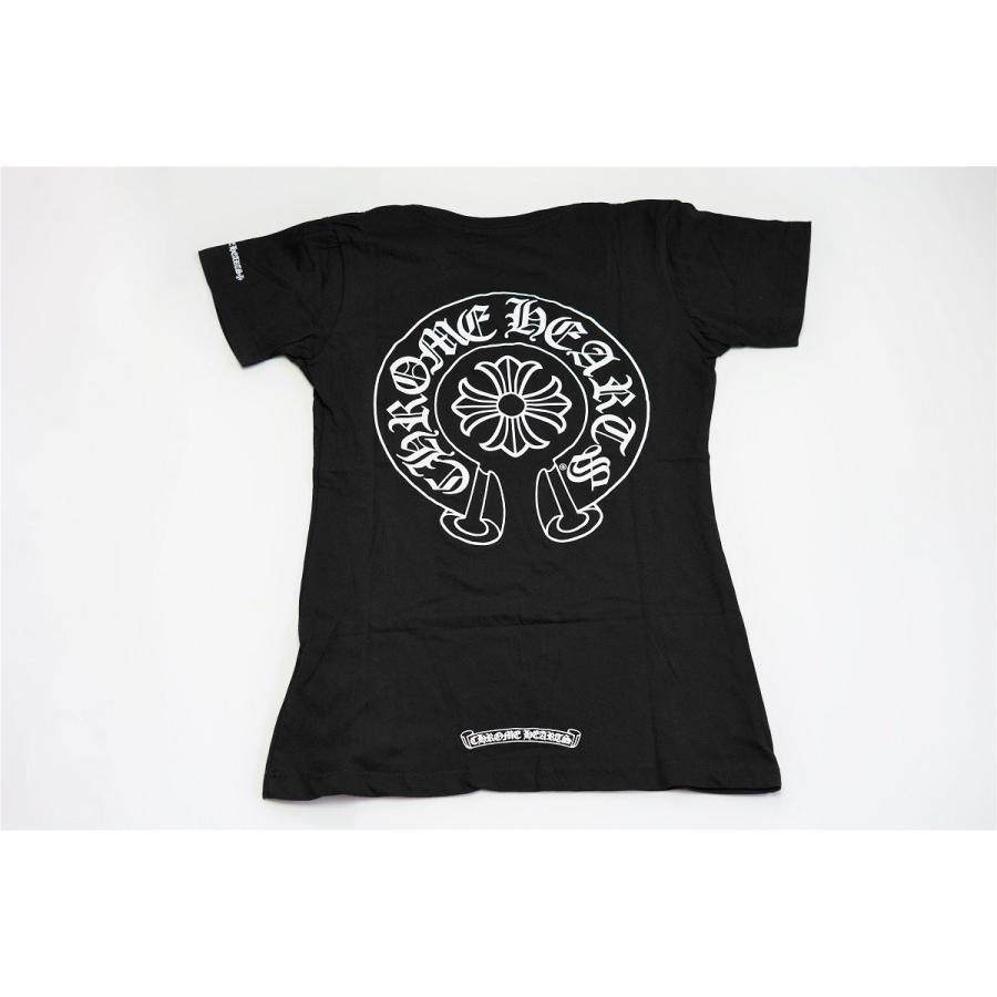 人気定番の 新品正規品 クロムハーツ Tシャツ ホースシュー ブラック レディース 半袖 Chrome Hearts Mens, ねむりサポート fbf4aced
