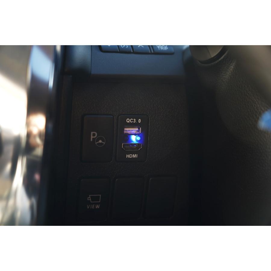 トヨタ車用 HDMI 入力& USB 電源ポート搭載 スイッチホール アンドロイド スマホ iphone対応|mgmarket|02