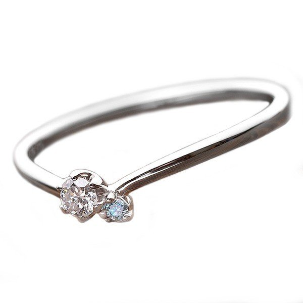 100%安い ダイヤモンド リング ダイヤ アイスブルーダイヤ 合計0.06ct 11号 プラチナ Pt950 V字モチーフ 指輪 ダイヤリング 鑑別カード付き, ゼットソーNOCOMART d956a1df