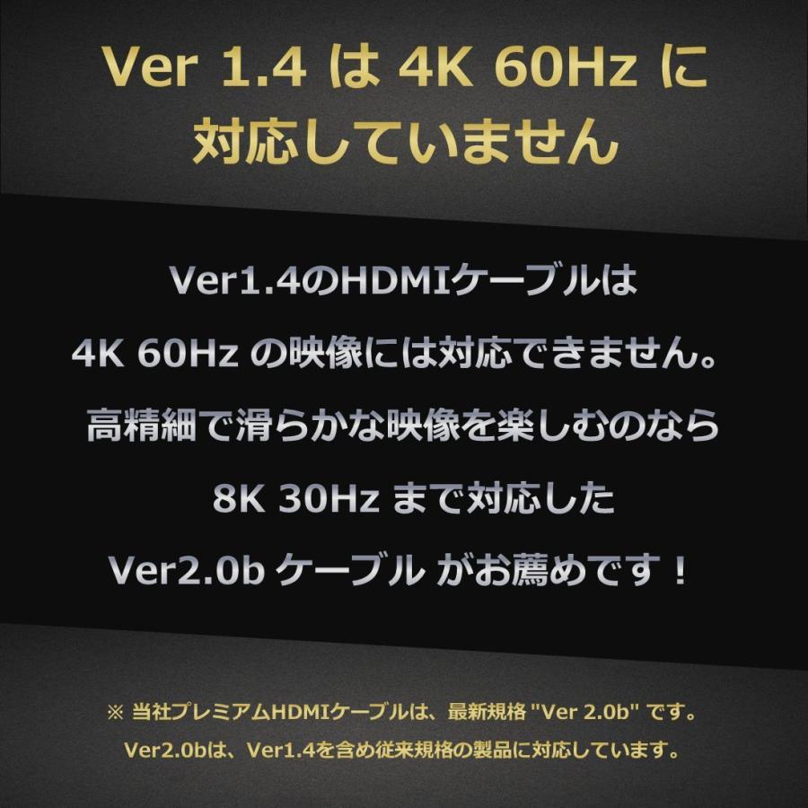 Hanwha スリム 4.2mm HDMIケーブル 3m [1年保証/相性保証][Ver2.0b][8K/4K/3D/イーサネット/オーディオリターン][ハイスピード][コンパクト端子][高耐久やわらか|mgshop0401|04