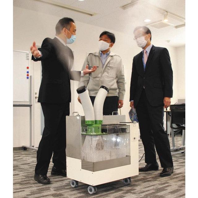加湿器 大型噴霧器 300平米以上 毎時4リットル霧化 空間噴霧 空間除菌 広範囲を除菌加湿 次亜塩素酸水溶液対応 工事不要 ミストセイバー 日本製 キャスター付|mgshoten|03