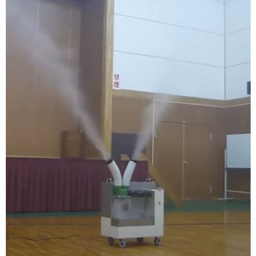 加湿器 大型噴霧器 300平米以上 毎時4リットル霧化 空間噴霧 空間除菌 広範囲を除菌加湿 次亜塩素酸水溶液対応 工事不要 ミストセイバー 日本製 キャスター付|mgshoten|04