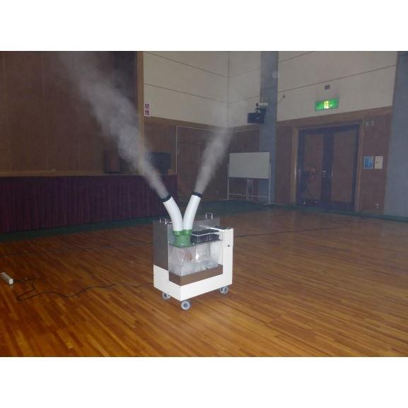 加湿器 大型噴霧器 300平米以上 毎時4リットル霧化 空間噴霧 空間除菌 広範囲を除菌加湿 次亜塩素酸水溶液対応 工事不要 ミストセイバー 日本製 キャスター付|mgshoten|08