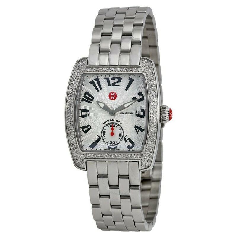 週間売れ筋 腕時計 ミッシェル レディース NEW Michele MWW02A000124 Mini Urban Diamond Bezel Stainless Steel Women's Watch, カニグン 0de6beba