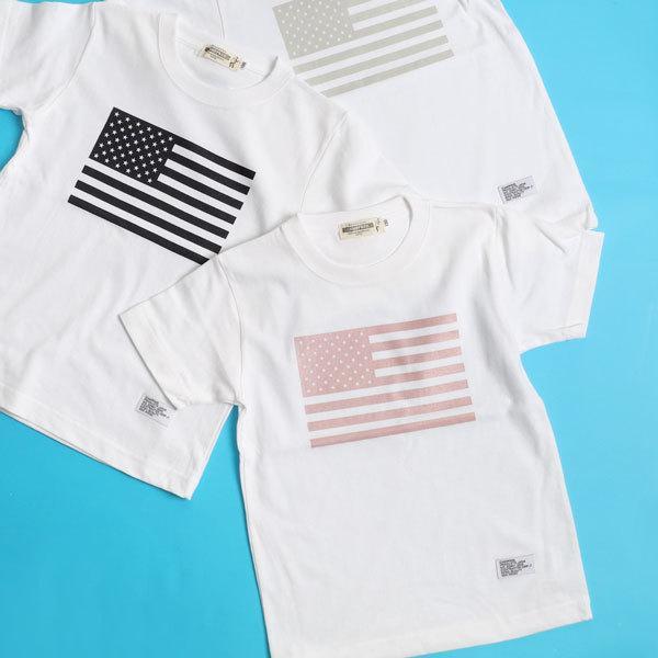 CAMPFREE 親子 ペアtシャツ ブランド お揃い Tシャツ おしゃれ ロンパース 半袖 ベビー服 男の子 女の子 親子コーデ 兄弟 家族 夫婦 星条旗 ペアルック 白 mha 11