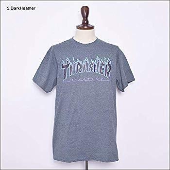 スラッシャー (FLAME) フレイム メンズ 半袖 Tシャツ S 3.Charcoal 並行輸入品