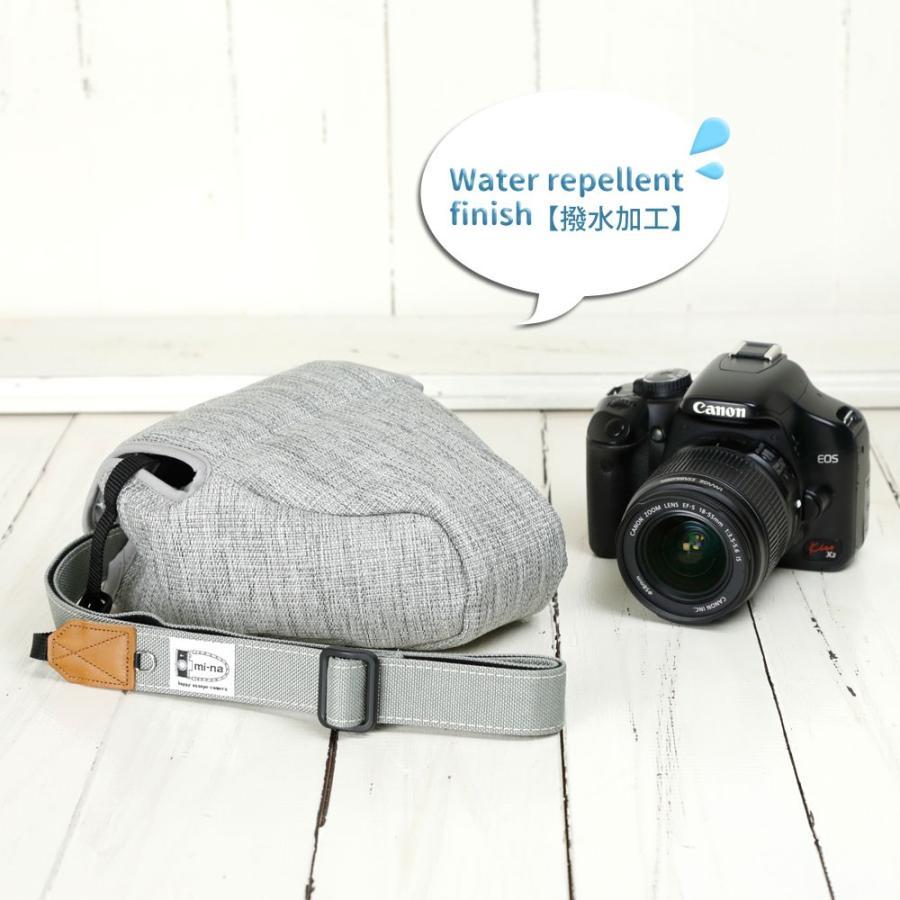 カメラケース camera case 一眼レフ用 「カメラのお洋服 スリム」 プロテジェ グレーミックス(撥水加工)|mi-na|03